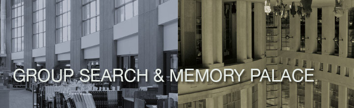 Group Search & Memory Palace: Book Launch