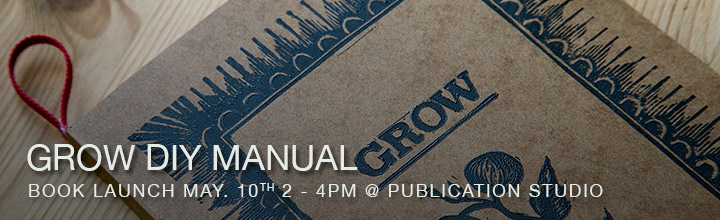 Grow diy Manual: Book Launch