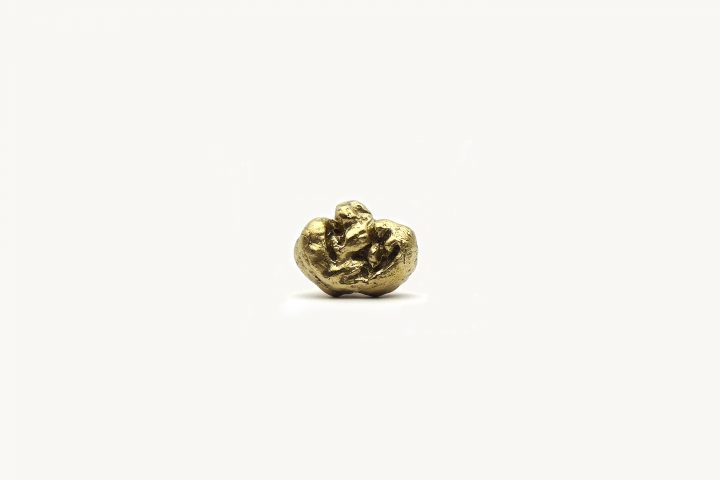 Dina Danish, Brass Replica of Stone Age Gum, brass, 10x6x6mm, 2013. Courtesy of Barbara Seiler and Stigter van Doesburg.